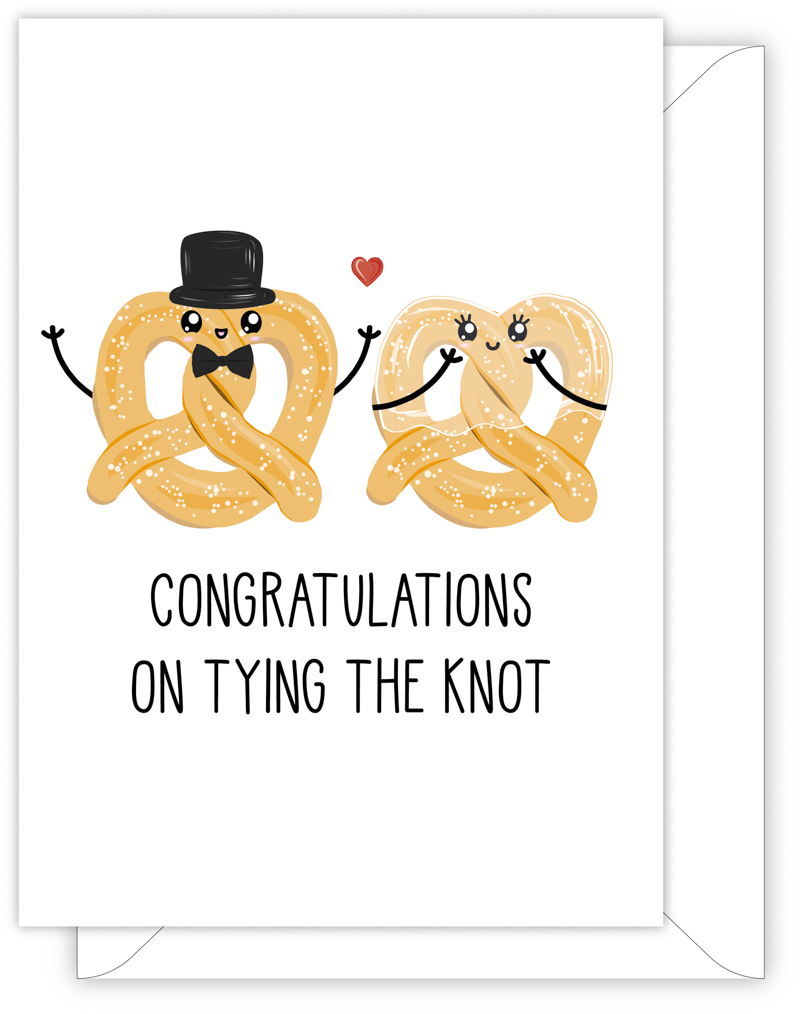 WEDDING CARD - CONGRATULATIONS ON TYING THE KNOT