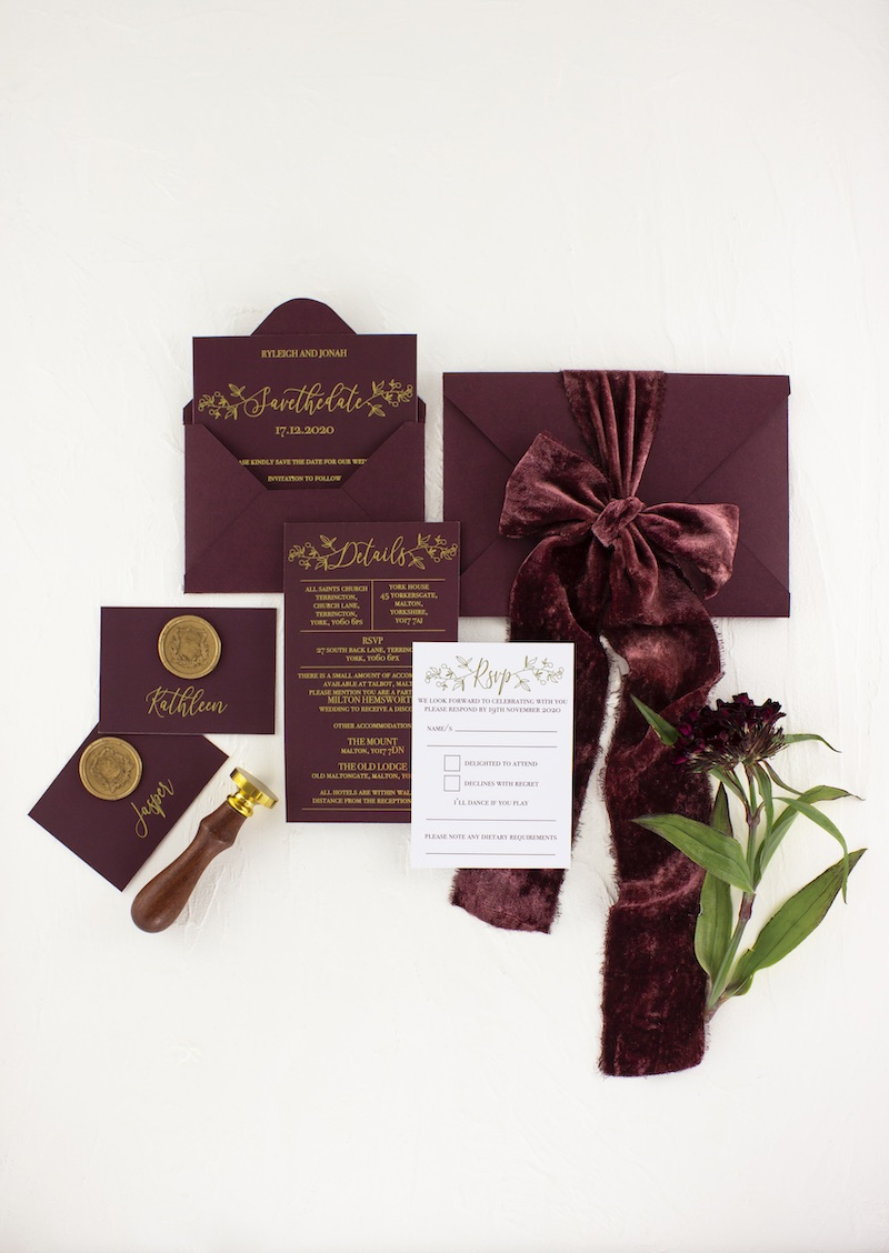 The Mulberry Suite Wedding Stationery Package
