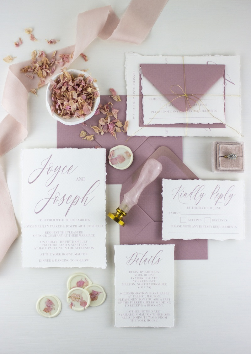 The Bluebell Suite Wedding Stationery Package