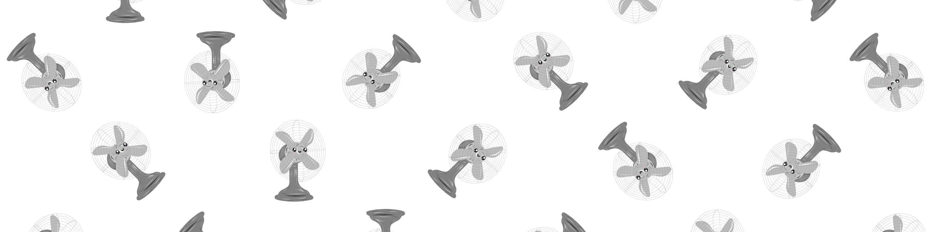 Repeating Patteern of Big Fan of Yours Card Illustration