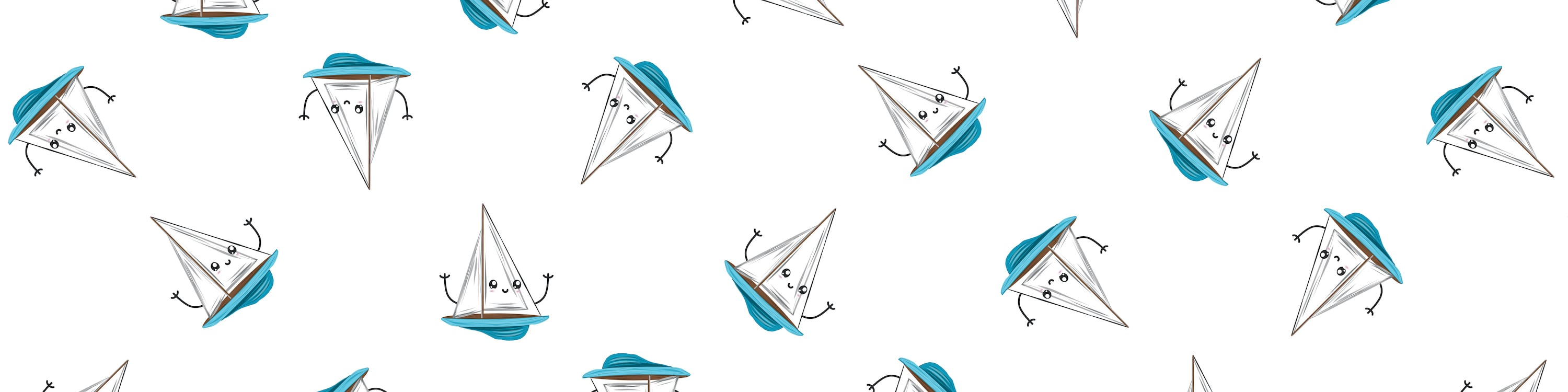 Repeating Patteern of Float My Boat Card Illustration