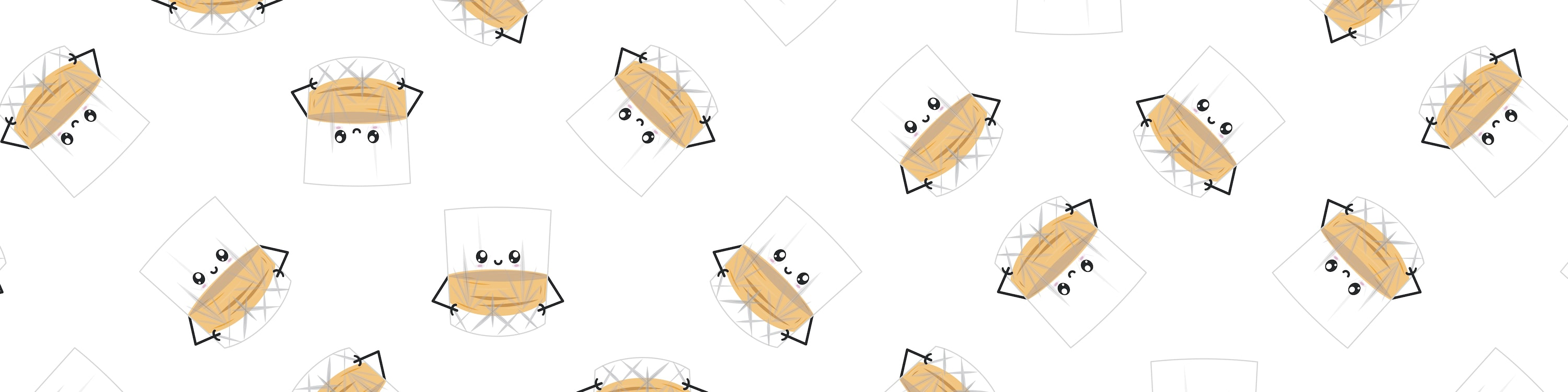 Repeating Patteern of Neat Greeting Card Illustration