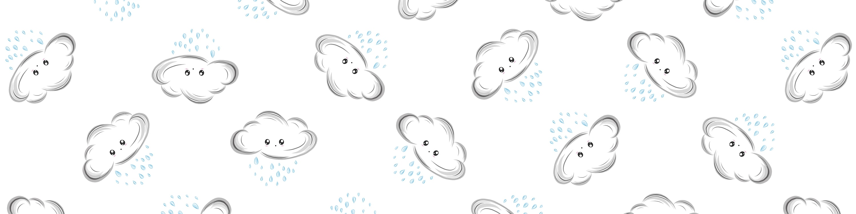 Repeating Patteern of Raining Clouds